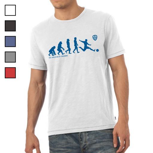 Personalised Leeds United FC Evolution Mens T-Shirt.
