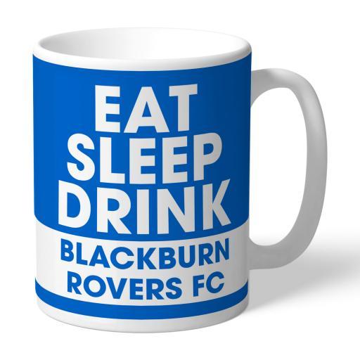 Blackburn Rovers FC Eat Sleep Drink Mug