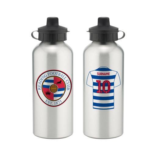 Personalised Reading FC Aluminium Water Bottle.