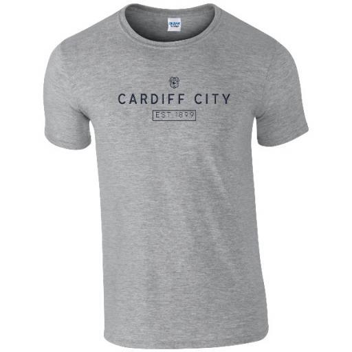 Personalised Cardiff City FC Minimal T-Shirt.