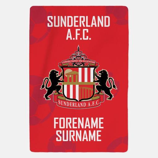 Personalised Sunderland AFC - Crest - Blanket.