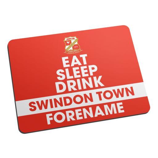 Swindon Town Eat Sleep Drink Mouse Mat