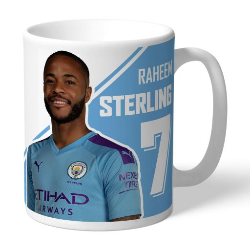 Manchester City FC Sterling Autograph Mug