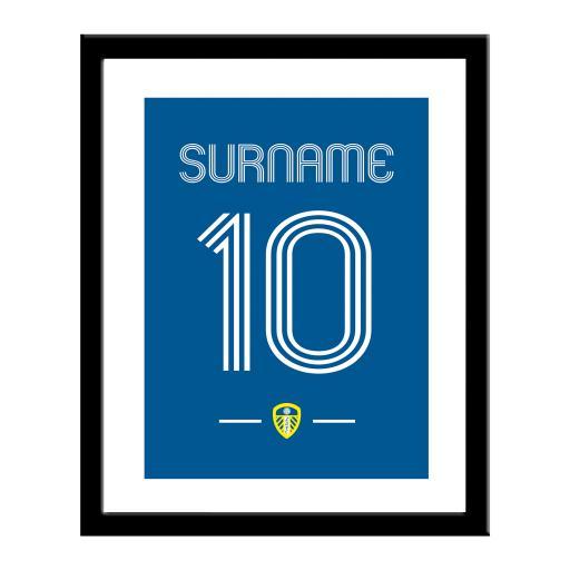 Personalised Leeds United FC Retro Shirt Print.