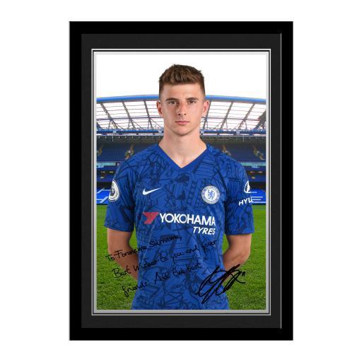 Chelsea FC Mount Autograph Photo Framed