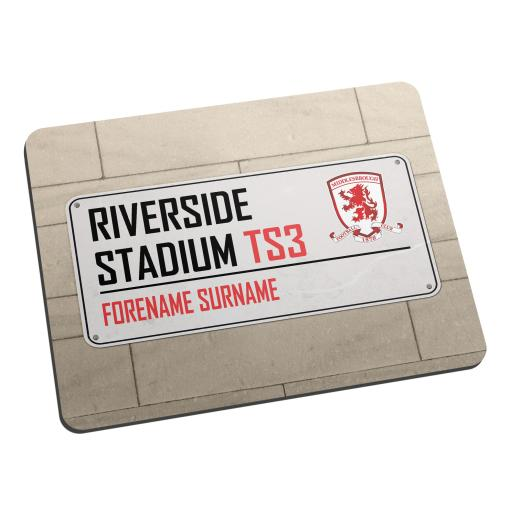 Middlesbrough FC Street Sign Mouse Mat