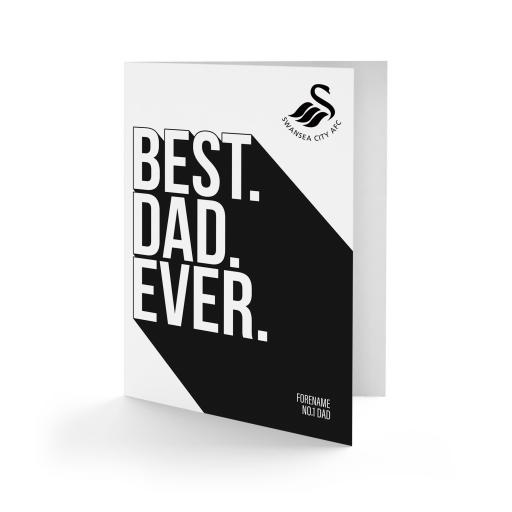 Swansea City AFC Best Dad Ever Card