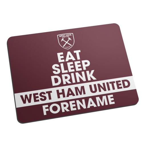 West Ham United FC Eat Sleep Drink Mouse Mat