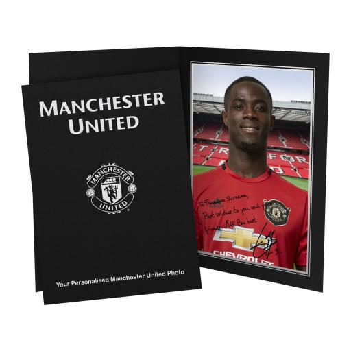 Personalised Manchester United FC Bailly Autograph Photo Folder.