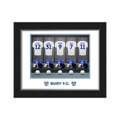 Bury FC Dressing Room Photo Folder