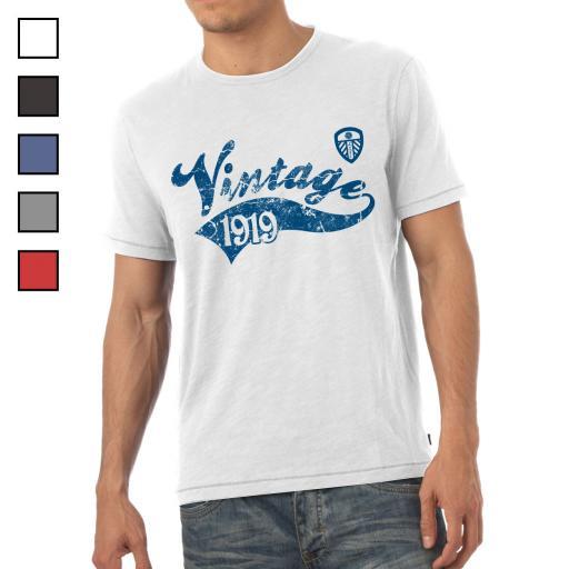 Leeds United FC Mens Vintage T-Shirt