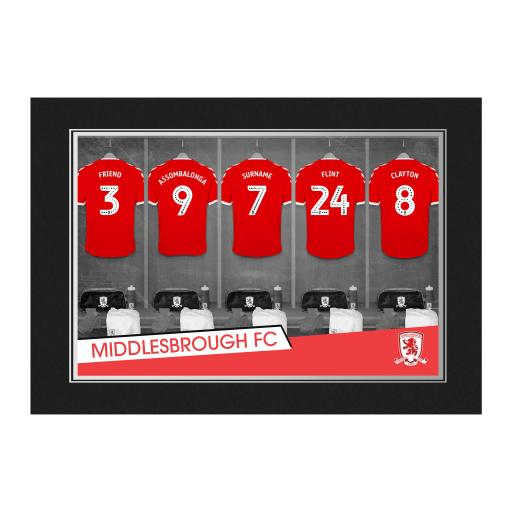 Middlesbrough FC 9x6 Dressing Room Photo Folder