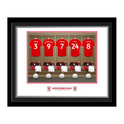 Middlesbrough FC Dressing Room Photo Framed