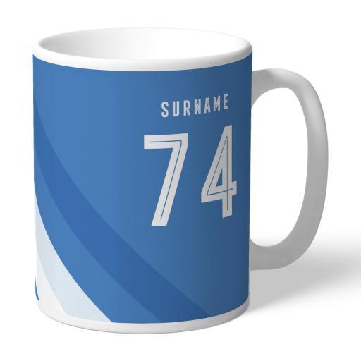Personalised Sheffield Wednesday Stripe Mug.