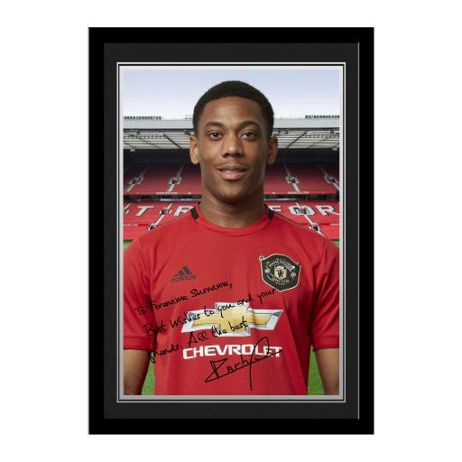 Manchester United FC Martial Autograph Photo Framed
