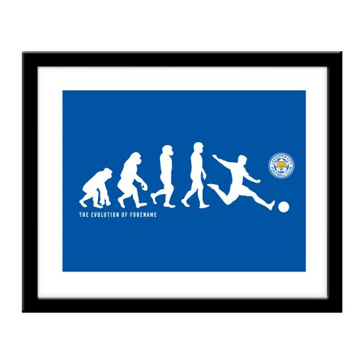 Personalised Leicester City FC Evolution Print.
