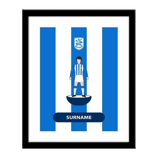Personalised Huddersfield Town Player Figure Print.