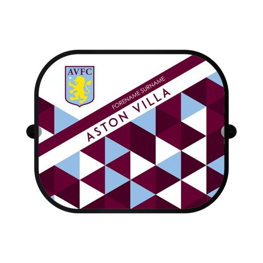 Aston Villa FC Patterned Car Sunshade