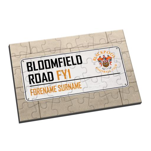 Blackpool FC Street Sign Jigsaw