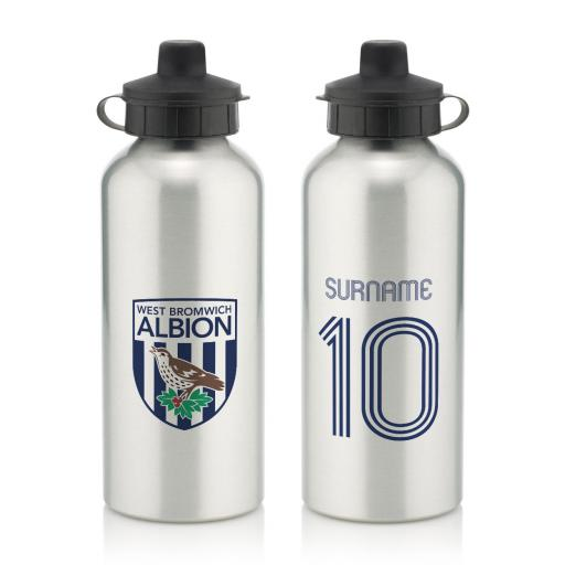 West Bromwich Albion FC Retro Shirt Water Bottle