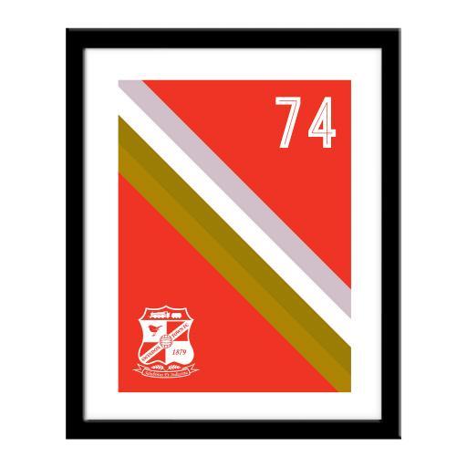 Swindon Town Stripe Print