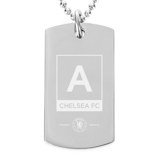 Chelsea FC Monogram Dog Tag Pendant