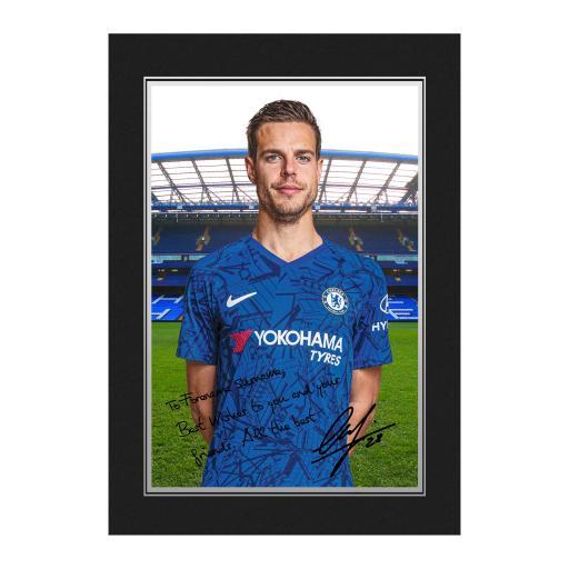 Chelsea FC Azpilicueta Autograph Photo Folder