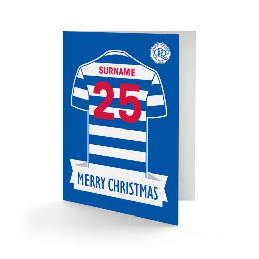Queens Park Rangers FC Shirt Christmas Card