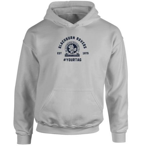 Personalised Blackburn Rovers FC Vintage Hashtag Hoodie.