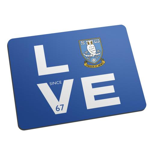 Personalised Sheffield Wednesday Love Mouse Mat.