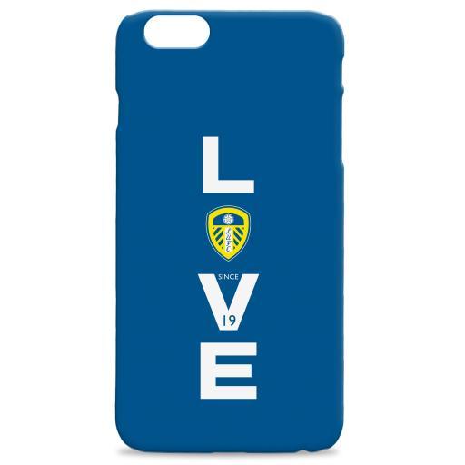 Personalised Leeds United Love Hard Back Phone Case.