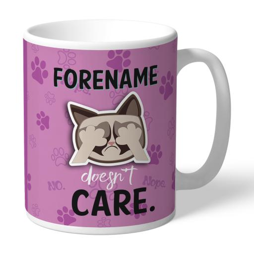 Grumpy Cat Emoji - Doesn't Care Mug Pink