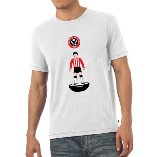 Personalised Sheffield United FC Player Figure Mens T-Shirt.