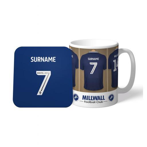 Personalised Millwall FC Dressing Room Mug & Coaster Set.