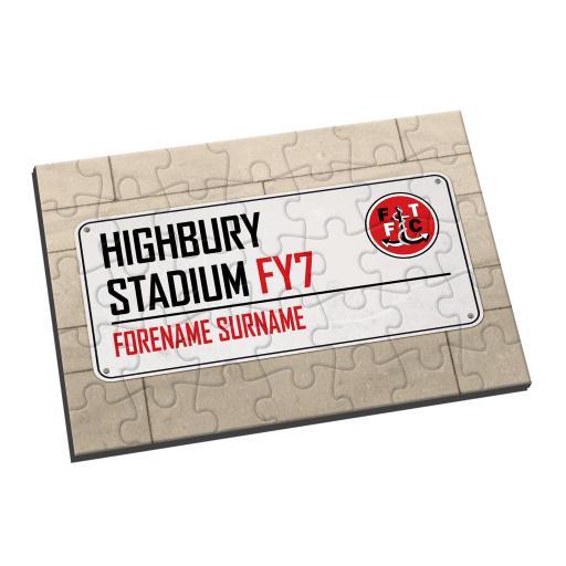 Fleetwood Town FC Street Sign Jigsaw