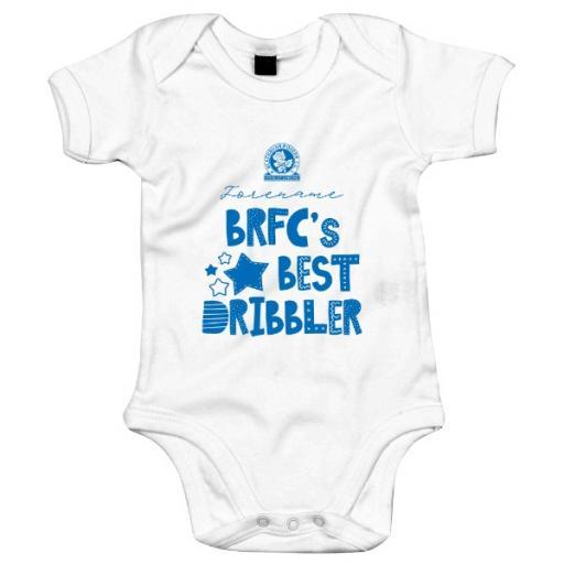 Personalised Blackburn Rovers FC Best Dribbler Baby Bodysuit.