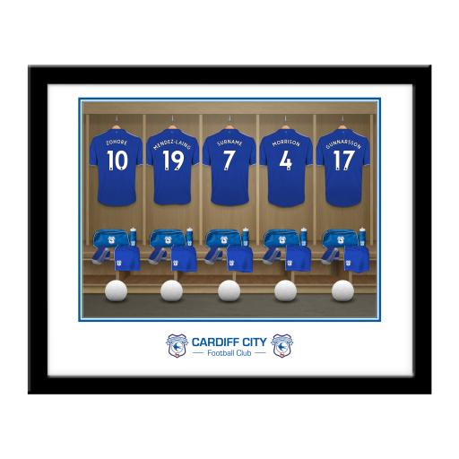 Cardiff City Dressing Room Framed Print