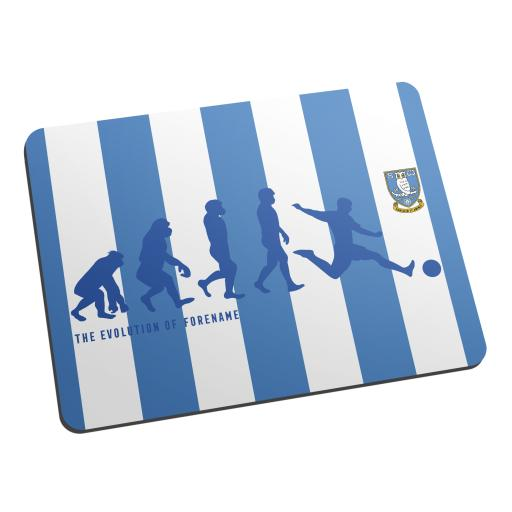 Personalised Sheffield Wednesday Evolution Mouse Mat.