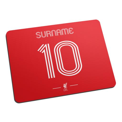 Personalised Liverpool FC Retro Shirt Mouse Mat.