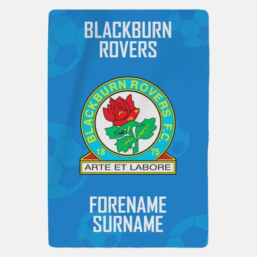 Personalised Blackburn Rovers FC Crest Blanket.