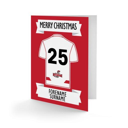 Leigh Centurions Shirt Christmas Card
