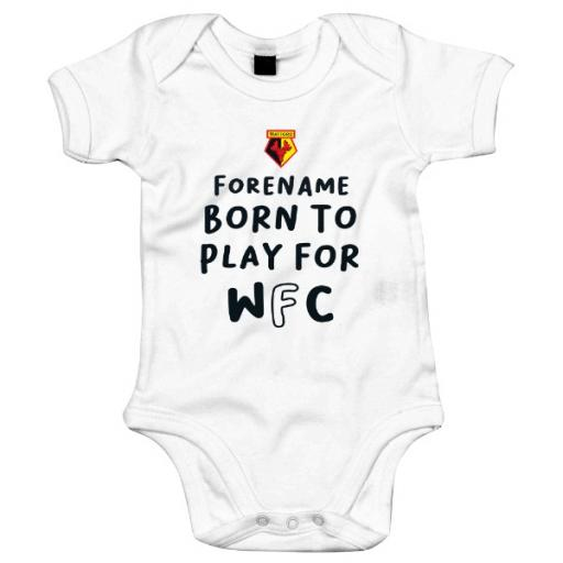 Watford FC Born to Play Baby Bodysuit