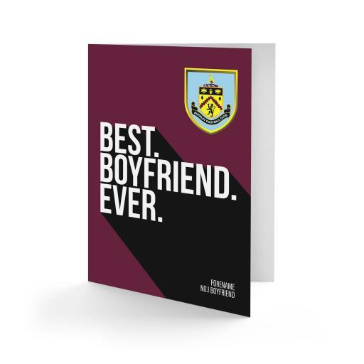 Burnley FC Best Boyfriend Ever Card