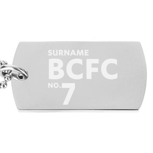 Birmingham City FC Number Dog Tag Pendant