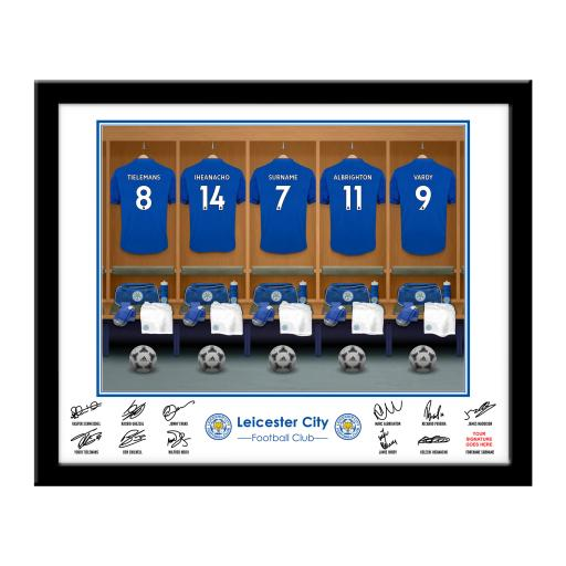 Leicester City FC Dressing Room Framed Print