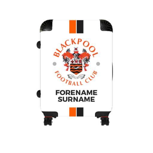 Personalised Blackpool Stripe Cabin Suitcase.