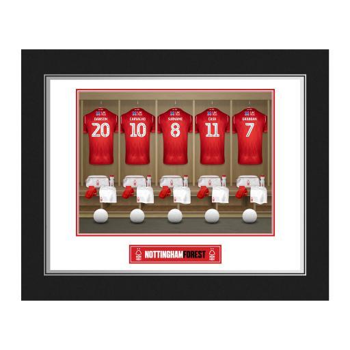 Personalised Nottingham Forest FC Dressing Room Photo Folder.