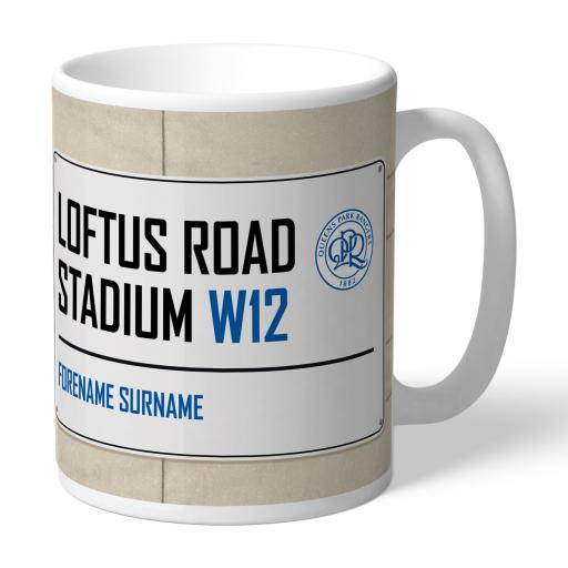 Queens Park Rangers FC Street Sign Mug