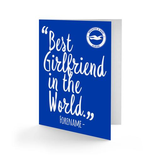Brighton & Hove Albion FC Best Girfriend In The World Card
