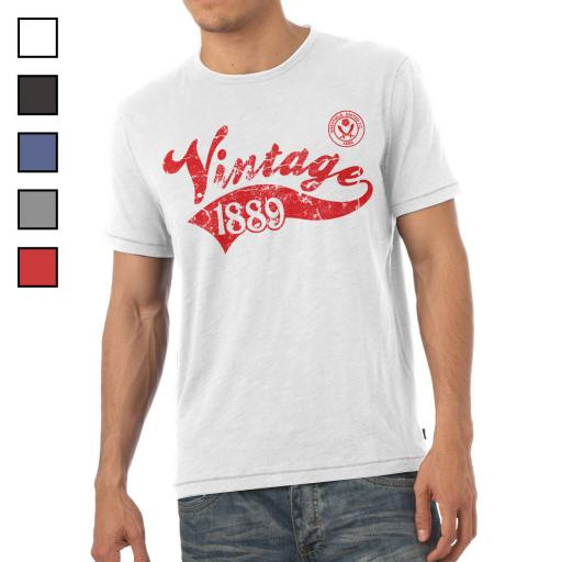 Sheffield United FC Mens Vintage T-Shirt